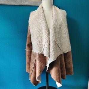 Faux lamb skin jacket